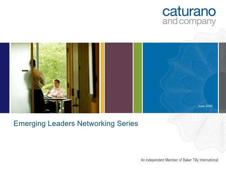 Emerging Leaders Networking Series June 2009