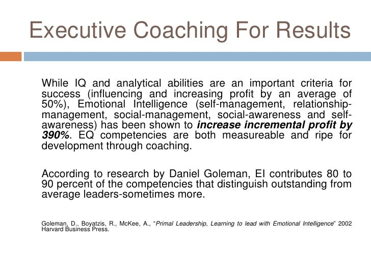 Executive Coaching Proposal