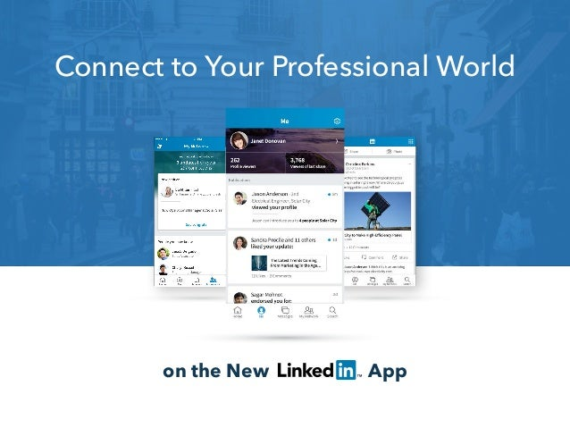 on the New App Connect to Your Professional World