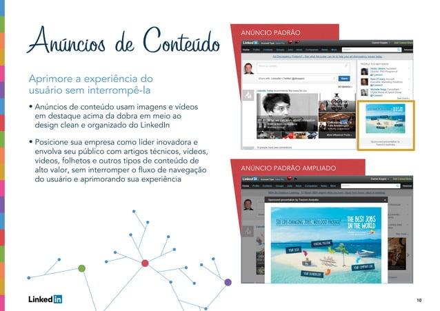 10 Aprimore a experiência do usuário sem interrompê-la • Anúncios de conteúdo usam imagens e vídeos em destaque acima da d...