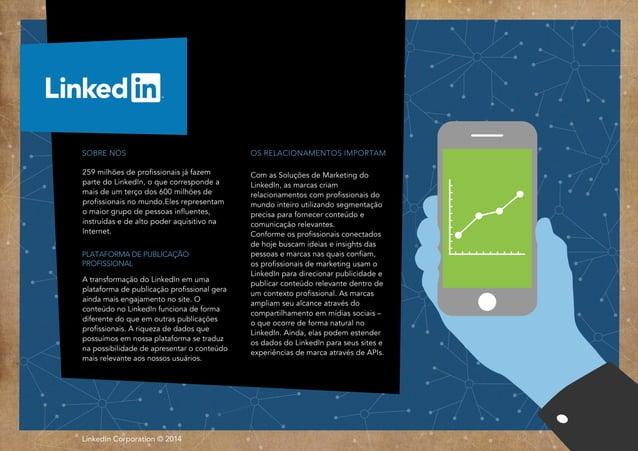 LinkedIn Corporation © 2014Rss OS RELACIONAMENTOS IMPORTAM Com as Soluções de Marketing do LinkedIn, as marcas criam relac...