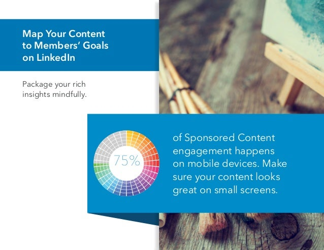 Map Your Content to Members' Goals on LinkedIn Package your rich insights mindfully. of Sponsored Content engagement happe...