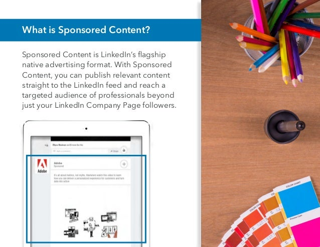 Color your LinkedIn Sponsored Content Strategy with Bright Insights Slide 2