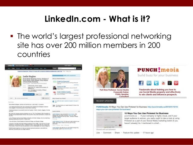 LinkedIn.com - What is it? The world's largest professional networking  site has over 200 million members in 200  countries