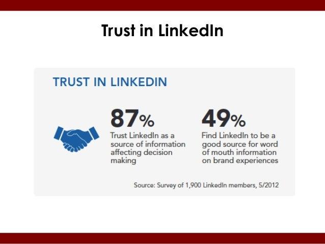 Trust in LinkedIn