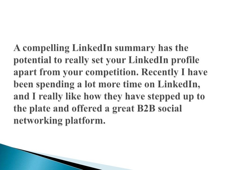 5 Tips to Writing a Compelling LinkedIn Summary