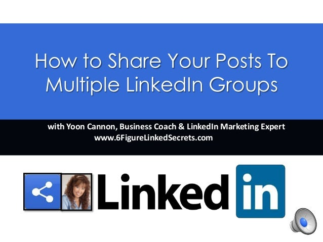 how to make posts in multiple groups