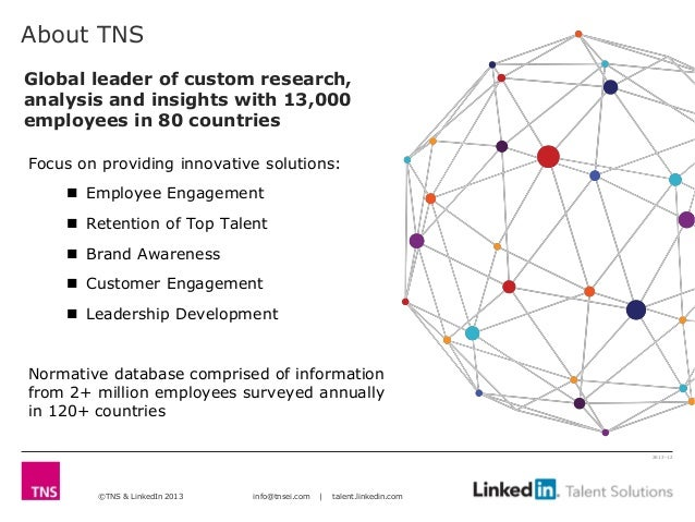 About TNSGlobal leader of custom research,analysis and insights with 13,000employees in 80 countriesFocus on providing inn...