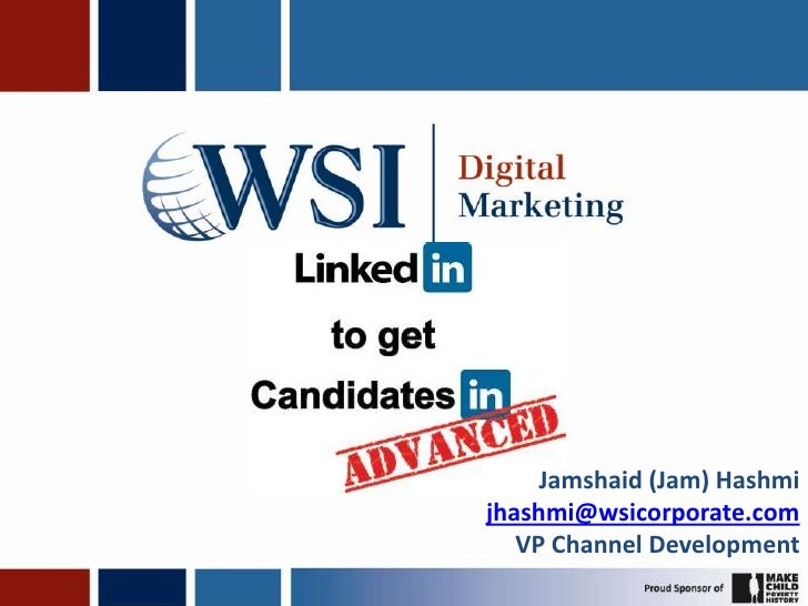 Jamshaid (Jam) Hashmi<br />jhashmi@wsicorporate.com<br />VP Channel Development<br />