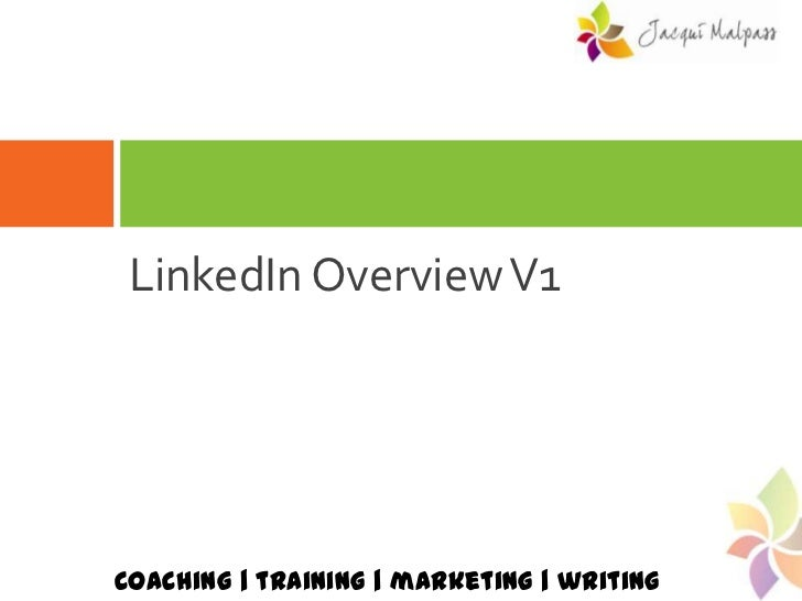 LinkedIn Overview V1<br />