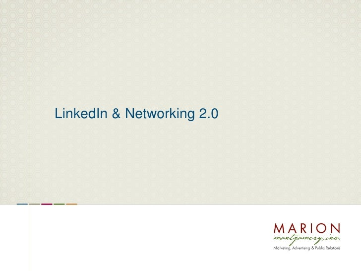 LinkedIn & Networking 2.0