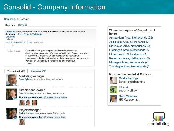 Linkedin Training November 2011 Slide 17
