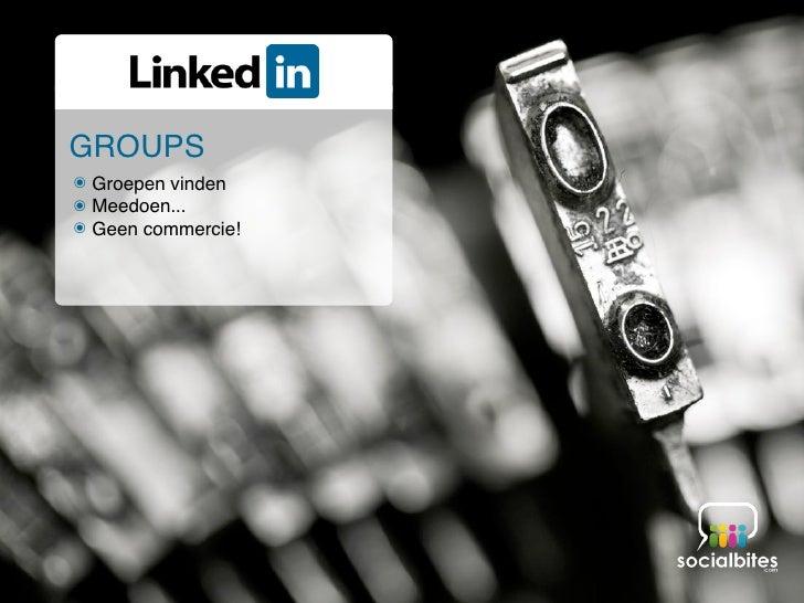 Linkedin Training November 2011 Slide 36