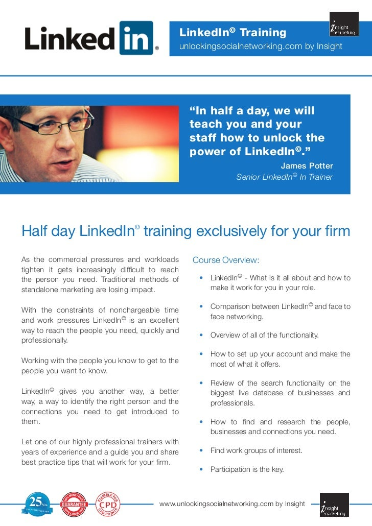 LinkedIn© Training                                                   unlockingsocialnetworking.com by Insight             ...