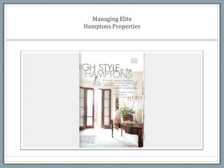 Managing Elite Hamptons Properties<br />