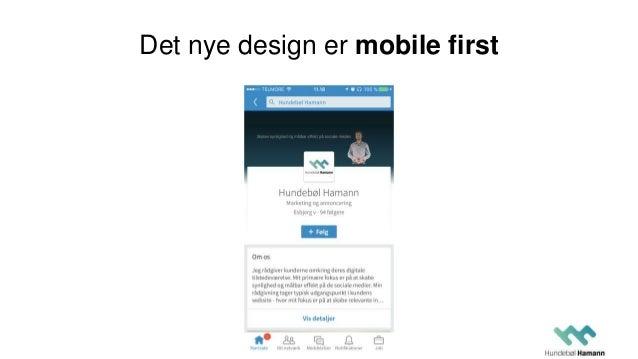 Det nye design er mobile first