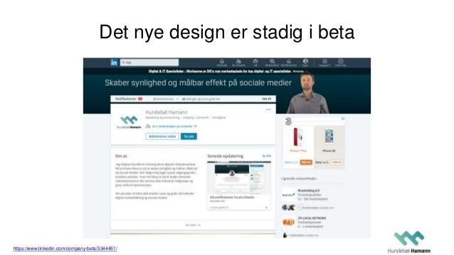 Det nye design er stadig i beta https://www.linkedin.com/company-beta/5344451/