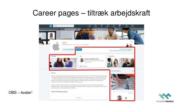 Career pages – tiltræk arbejdskraft OBS – koster!