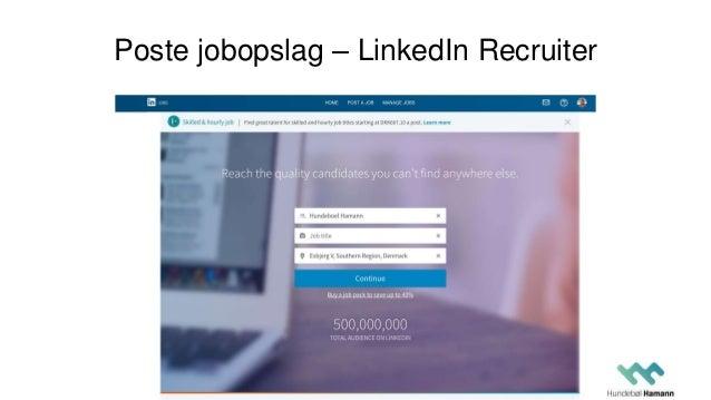Poste jobopslag – LinkedIn Recruiter