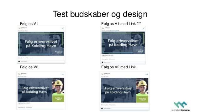 Test budskaber og design Følg os V1 Følg os V2 Følg os V1 med Link *** Følg os V2 med Link