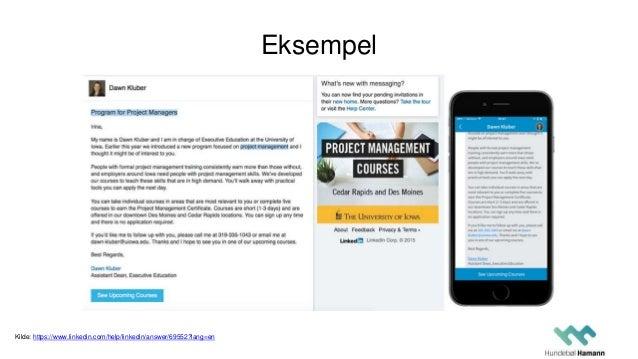 Eksempel Kilde: https://www.linkedin.com/help/linkedin/answer/69552?lang=en
