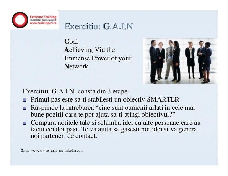 Exercitiu: G.A.I.N                            Goal                            Achieving Via the                           ...