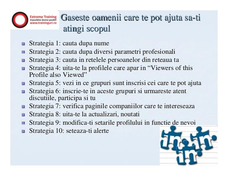 Gaseste oamenii care te pot ajuta sa-ti            atingi scopulStrategia 1: cauta dupa numeStrategia 2: cauta dupa divers...