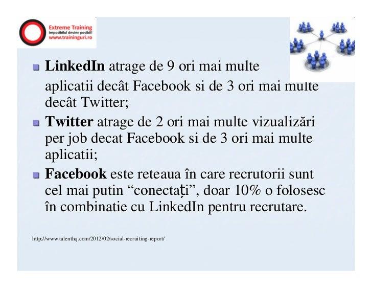 LinkedIn atrage de 9 ori mai multe     aplicatii decât Facebook si de 3 ori mai multe     decât Twitter;     Twitter atrag...