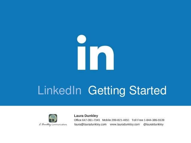 LinkedIn Getting Started