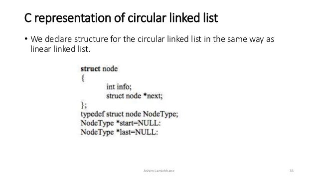 circular linked list program in c