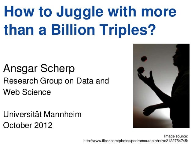 How to Juggle with morethan a Billion Triples?Ansgar ScherpResearch Group on Data andWeb ScienceUniversität MannheimOctobe...
