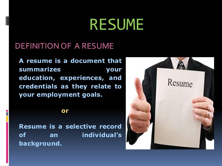 Definition And Types Of Resume ...  4 Types Of Resumes