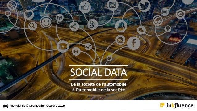 De la société de l'automobile à l'automobile de la société Mondial de l'Automobile - Octobre 2016 SOCIAL DATA