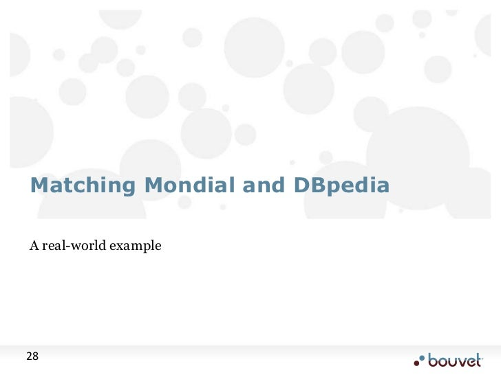 A real-world example<br />Matching Mondial and DBpedia<br />