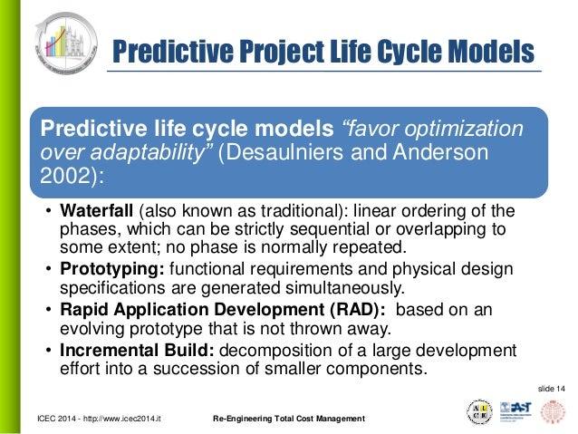 Predictive And Adaptive Models Life Cycle Models