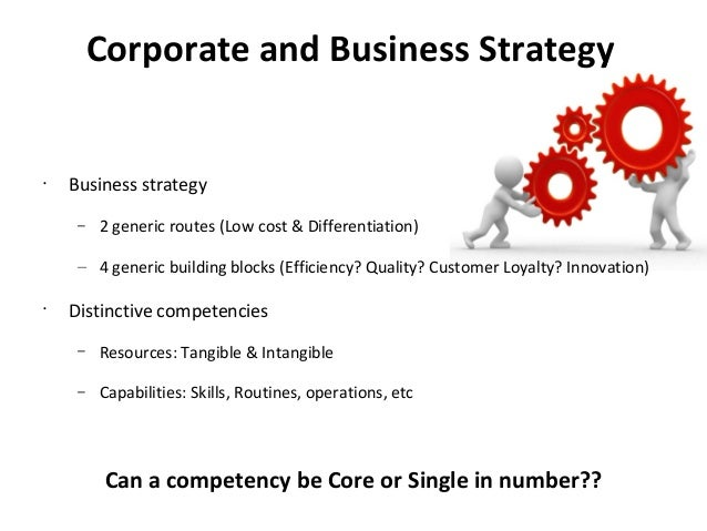 the relationship between business strategy and Analysts sometimes say marketing strategy when they, in fact, mean the firm's  competitive strategy and  mapping relationships between the various  strategies.