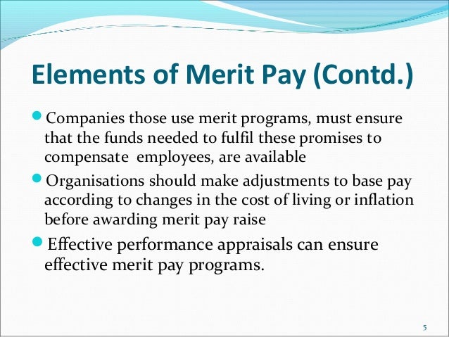Merit Pay For Teachers - Research Paper Example