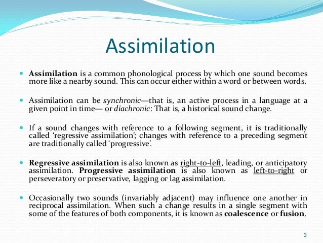 Assimilation slt info.