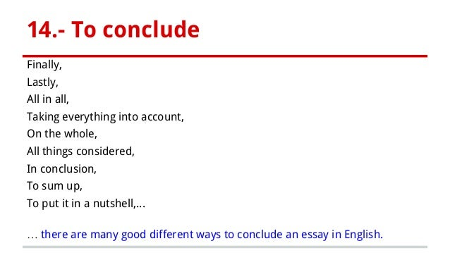 how to conclude an essay example