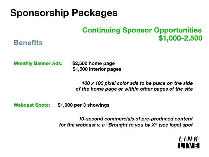 Link live 2010 sponsorship deck