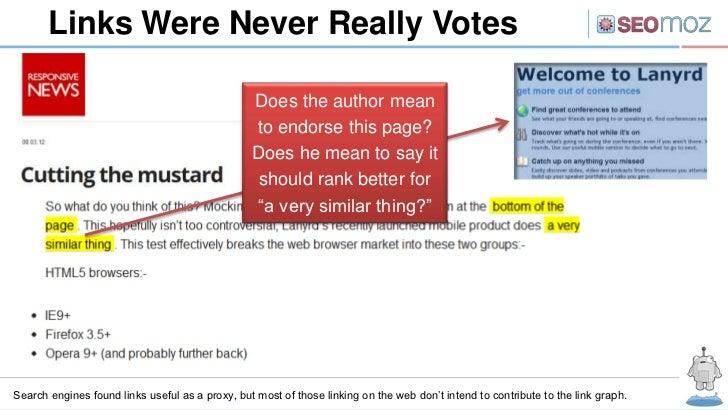 Links Were Never Really Votes                                                 Does the author mean                        ...