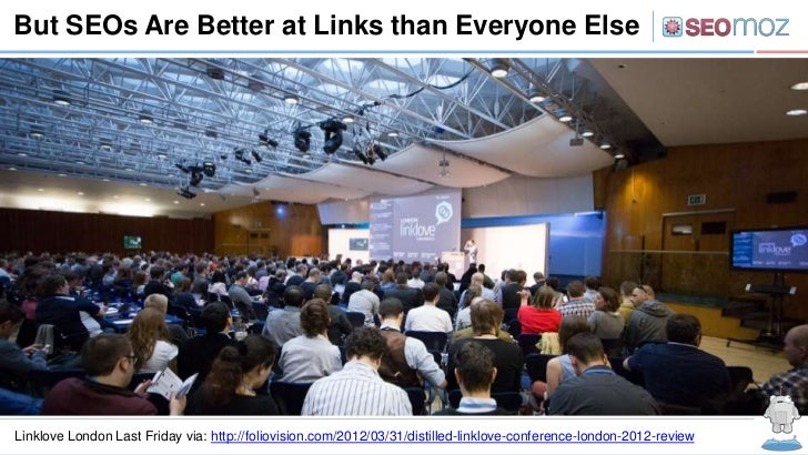 But SEOs Are Better at Links than Everyone ElseLinklove London Last Friday via: http://foliovision.com/2012/03/31/distille...