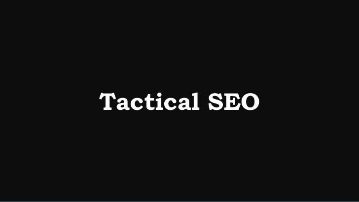 Tactical SEO