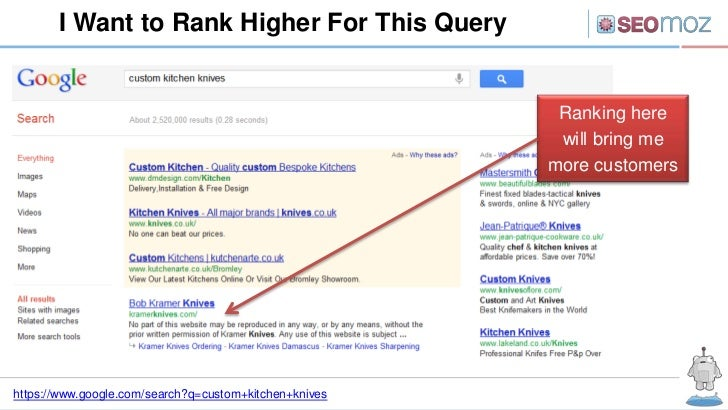 I Want to Rank Higher For This Query                                                         Ranking here                 ...