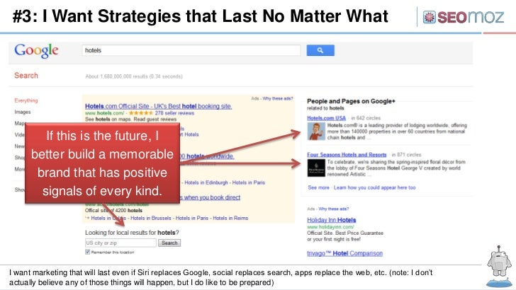 #3: I Want Strategies that Last No Matter What         If this is the future, I      better build a memorable       brand ...