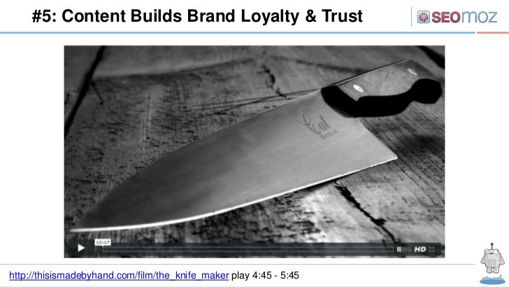 #5: Content Builds Brand Loyalty & Trusthttp://thisismadebyhand.com/film/the_knife_maker play 4:45 - 5:45