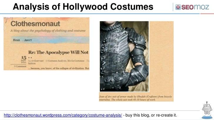 Analysis of Hollywood Costumeshttp://clothesmonaut.wordpress.com/category/costume-analysis/ - buy this blog, or re-create ...
