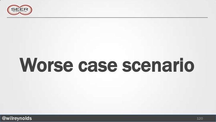 Worse case scenario@wilreynolds                 120