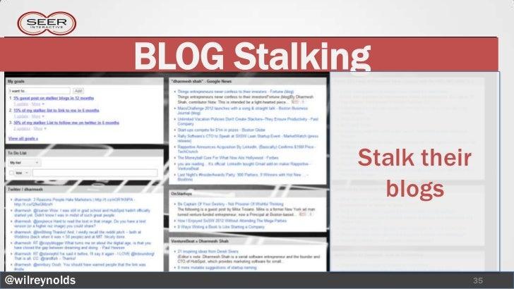 BLOG Stalking                           Stalk their                             blogs@wilreynolds                         ...