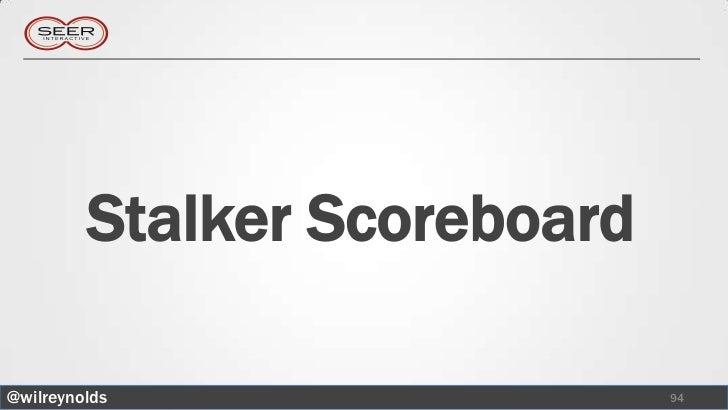 Stalker Scoreboard@wilreynolds                  94